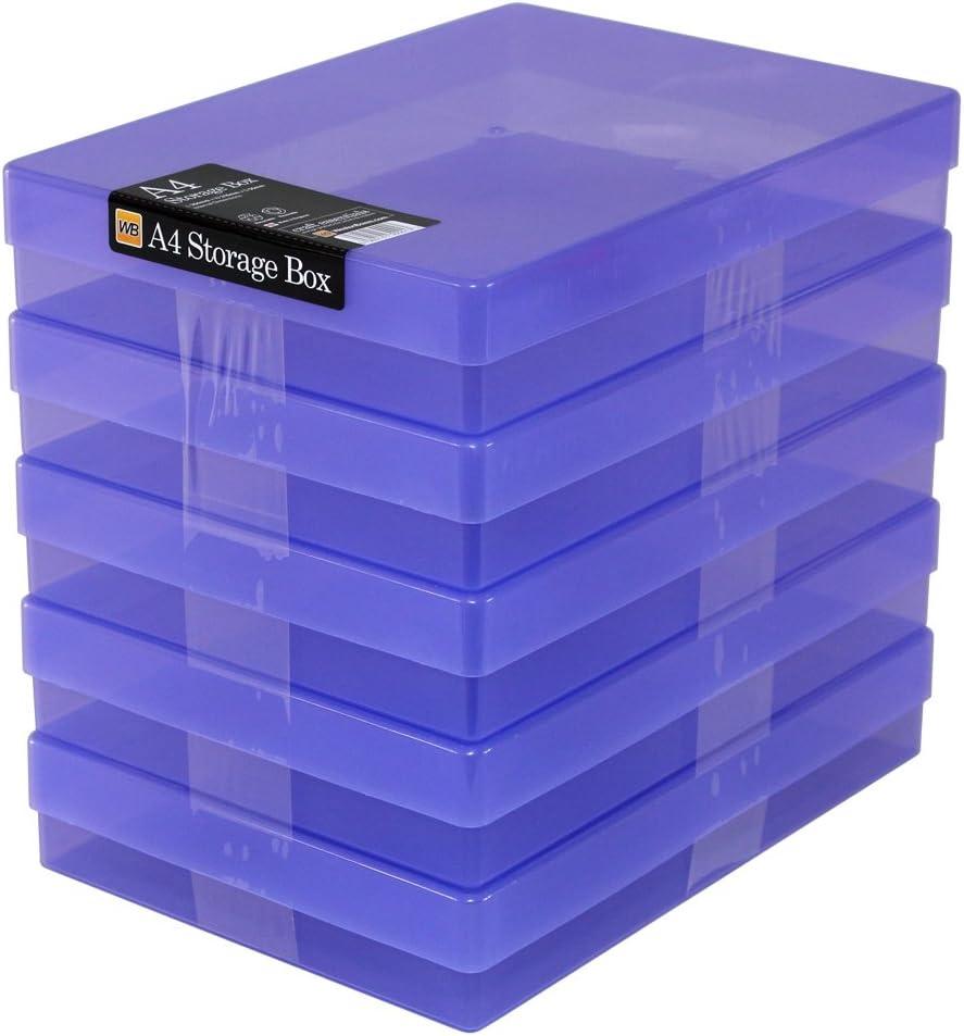 WestonBoxes - Caja de almacenamiento A4 para papel A4 y manualidades: Amazon.es: Oficina y papelería