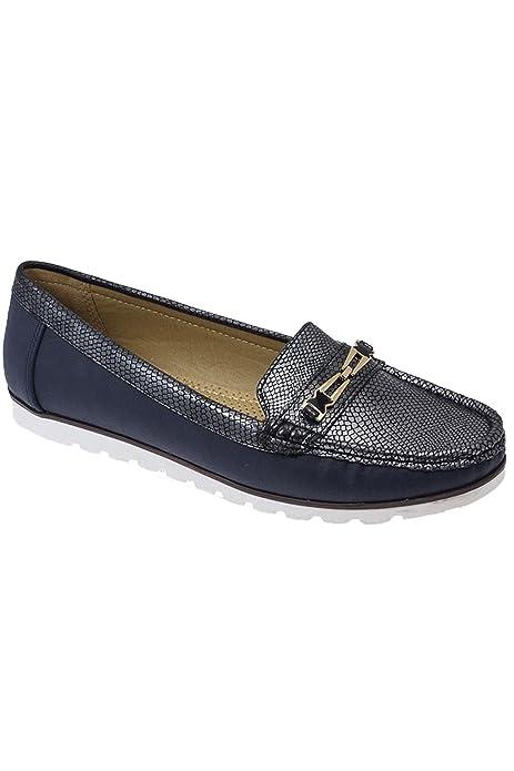 Sapphire Boutique by Sapphire - Mocasines para mujer azul azul marino: Amazon.es: Zapatos y complementos