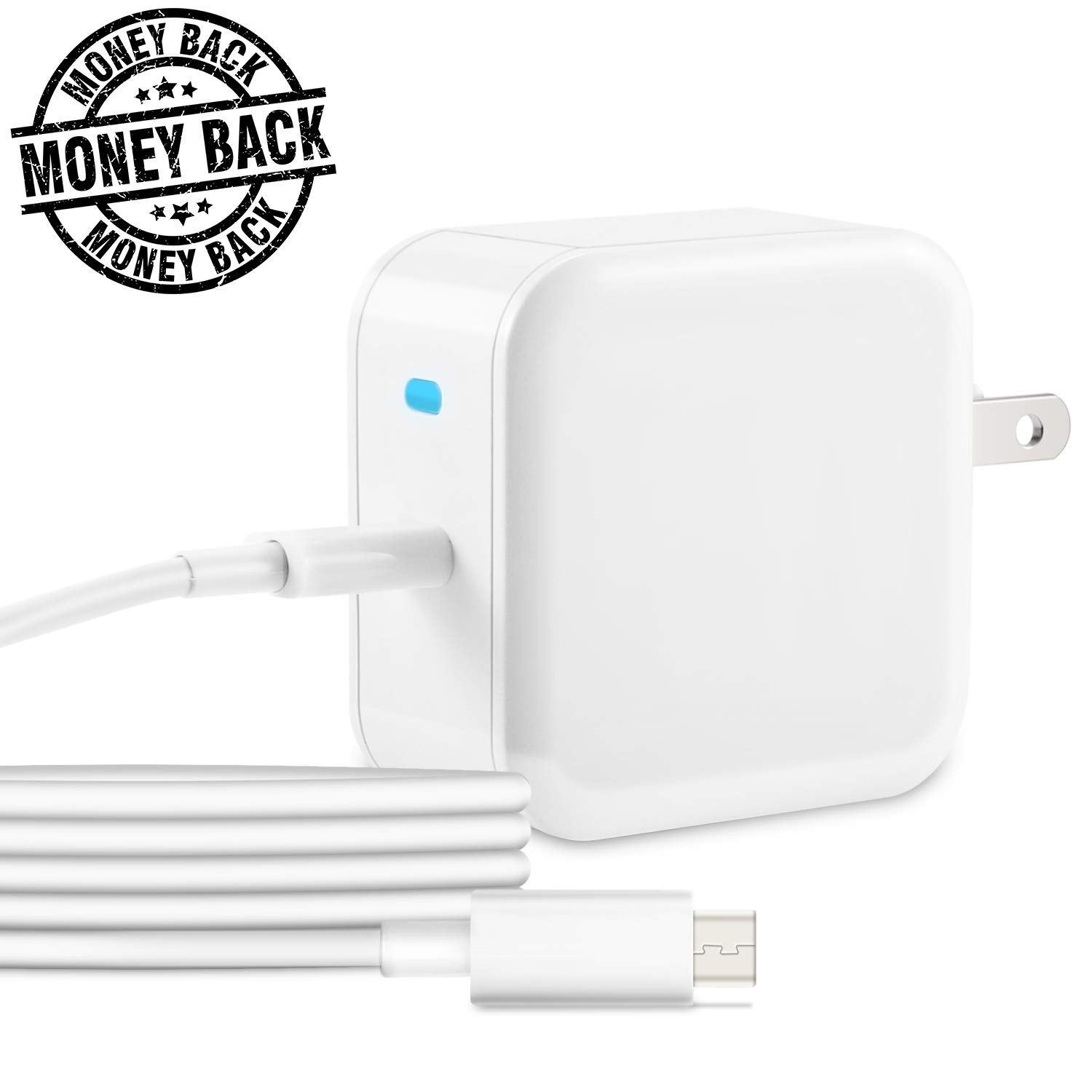 """USB C Charger,30w PD Fast Wall Charger for Macbook 12"""",QC 3.0 USB C Power Adapter Quick Charge to pixel 2,nintendo switch.Android Wall plug for samsung s8,Huawei P9/P10,nexus 6p,more usb c smartphone."""