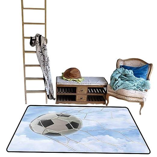 Tapete Decorativo para Piso, balón de fútbol y Yeso Antiguo, para ...