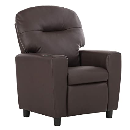 LCH Kids Recliner Sofa Chair With Cupholder, Baby Child Recliner With PU  Leather And Anti