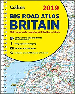2019 Collins Big Road Atlas Britain: Collins Maps ... on