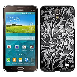 MOBMART Carcasa Funda Case Cover Armor Shell PARA Samsung Galaxy Mega 2 - Steel Carved Flowers