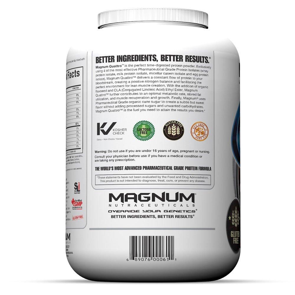 Magnum Nutraceuticals Quattro Protein Powder – 4lbs – Chocolate Love – Pharmaceutical Grade Protein Isolate – Lactose Free – Gluten Free – Peanut Free