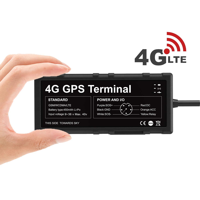 Toptellite Localizador GPS 4G para Vehículo, Dispositivo de Tracker GPS para Automóviles Superior Compatible con Punto de Acceso WIFI / Corte Remoto ...