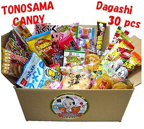 """Japanese candy assortment 30pcs , full of dagashi. """"TONOSAMA CANDY"""""""