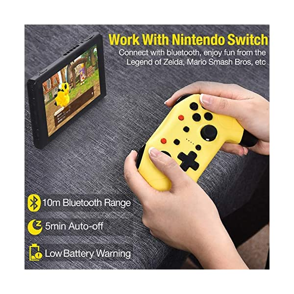 Switch Controller for Nintendo Switch/Switch Lite, Switch Pro Controller with Turbo Function Switch Wireless Controller… 2