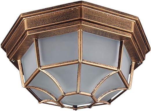 Lampara techo Retro Aplique Exterior Impermeable A Prueba Luz Del ...