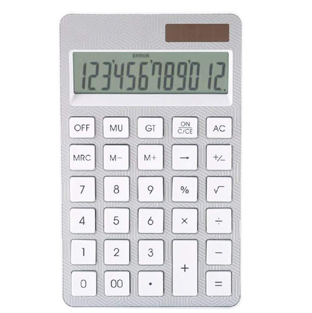 Calculator Desktop Calculator Dual Power Supply 12 Digits Large Display Plastic Button Automatic Shut-Down (5X Calculator)