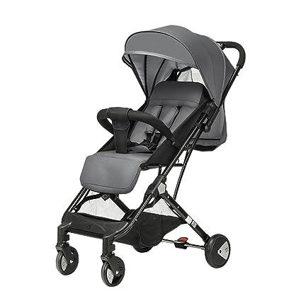 HAIZHEN Cochecito Sillas de paseo carrito de bebé pequeño volumen plegable fácil de llevar para 6