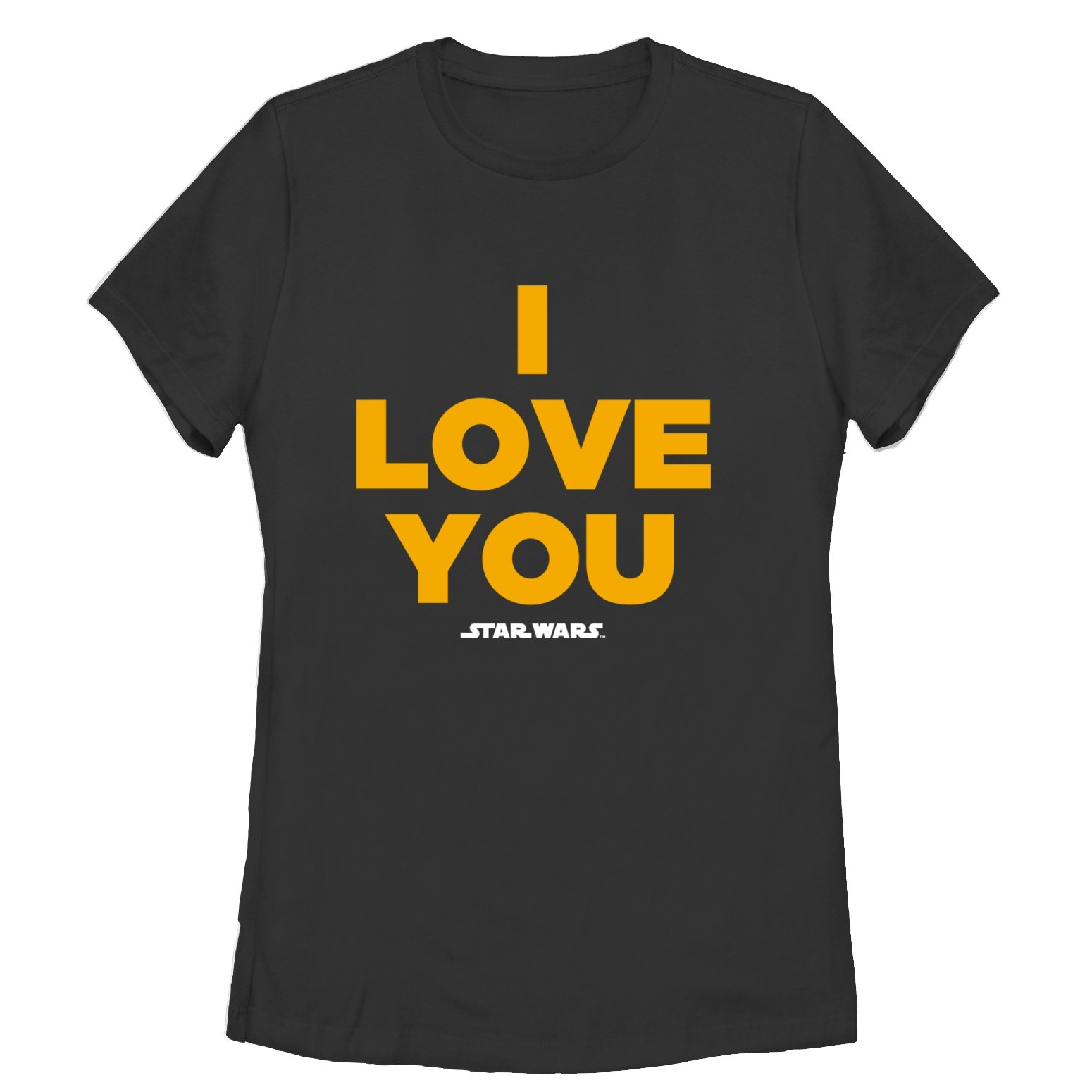 Star Wars Women's Princess Leia I Love You Black T-Shirt