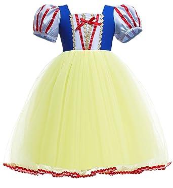 Le SSara Niñas Princesa Nieve Traje Blanco Disfraces Hadas disfrazarse Vestido de Cosplay con Cabo