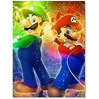 Canvas Pictures For Bedroom Canvas Prints Super Mario Bros Mario Luigi Wall Art Bedroom Decor Poster 8x12inch
