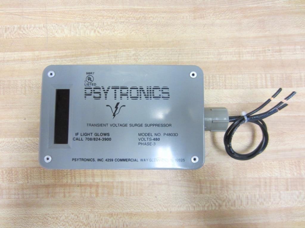 Psytronics P4803D Three Phase 480 Volt Transient Voltage Surge Suppressor.
