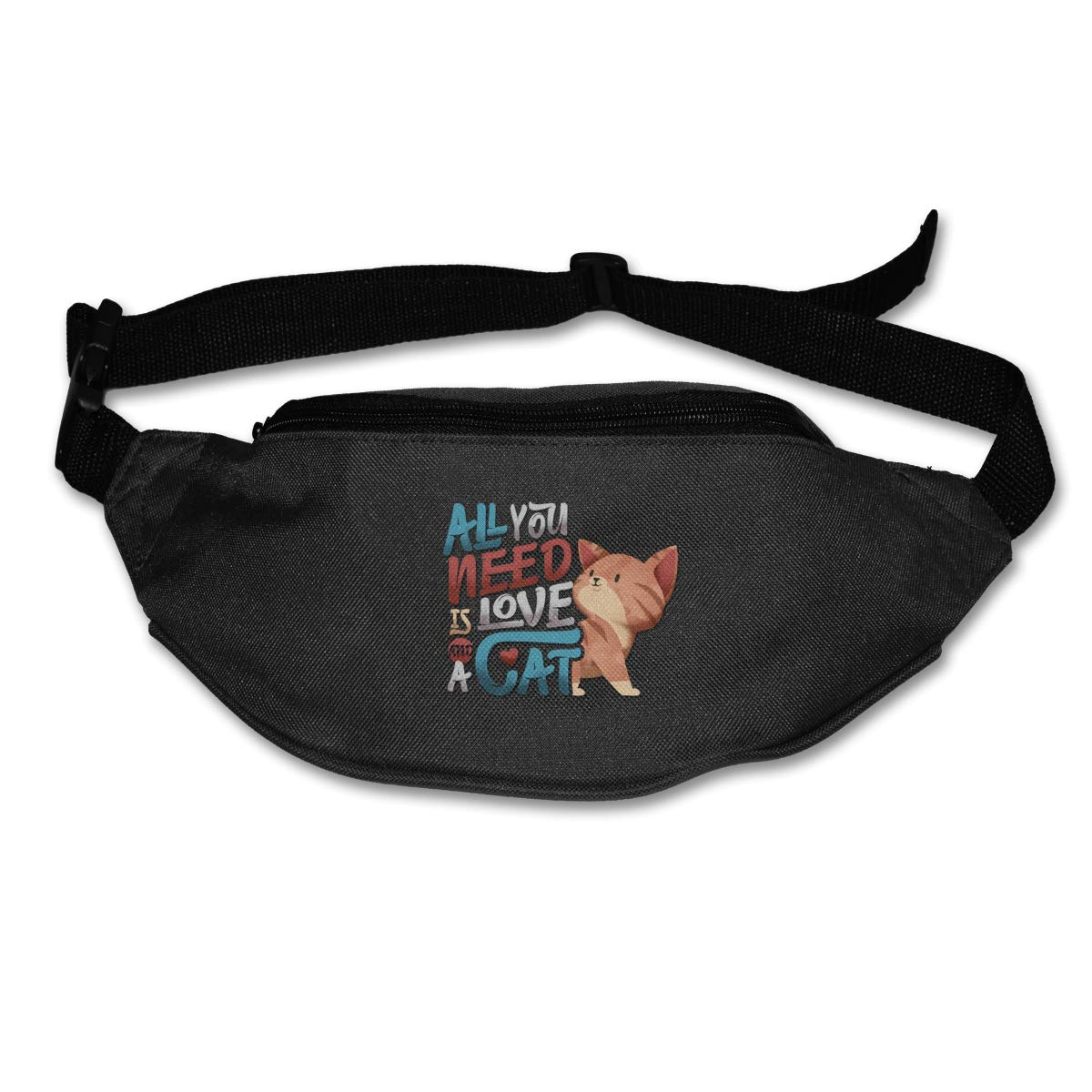 All You Need Is Love A Cat Sport Waist Bag Fanny Pack Adjustable For Travel