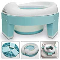 3-in-1 Go Potty for Travel, Portable Folding Compact Toilet Seat,Potty Training Toilet Chairs for Toddler Boys & Girls…