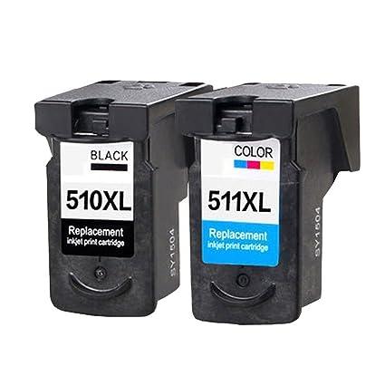 Karl Aiken 2 x (1 Negro, 1 Tricolor) Canon PG-510 cl-511 ...