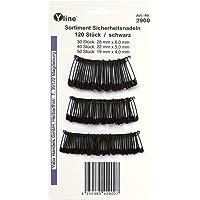 120 piezas imperdibles - Cadena negro 19-22-28 mm, agujas, agujas de seguridad, 2900