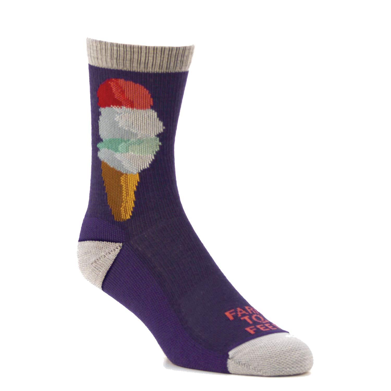 Farm to Feet Kids Ice Cream Lightweight Crew Socks