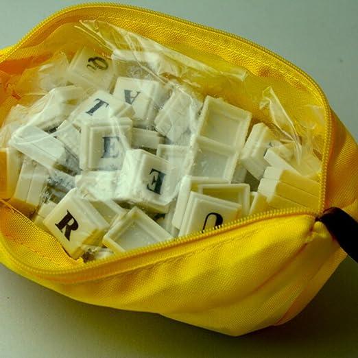 travet Banana ajedrez juego de mesa, Scrabble Azulejos plástico Inglés alfabeto Ortografía Juego Rompecabezas Juguetes Regalo: Amazon.es: Hogar