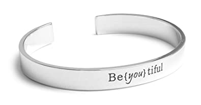 Amazoncom Charming Life Creations Inspirational Silver Cuff