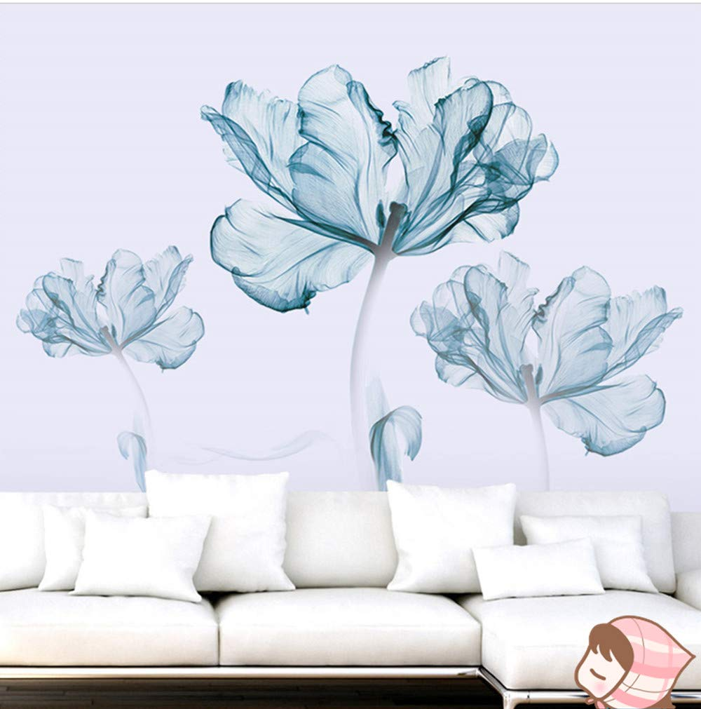 DERUN TRADING Wall Stickers & Murals Home Décor Home Décor Accents for Living Room Flower Wall Decals Home Improvement Paint Wall Treatments Wall Decals Murals Decor Vinyl Removable Mural Paper … by DERUN TRADING (Image #6)