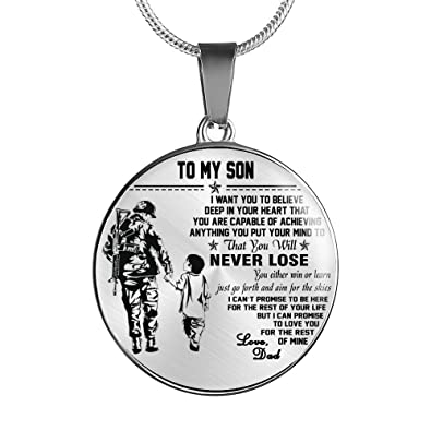 Amazon To My Son Necklace