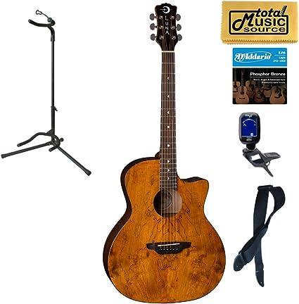 Luna GYP SPALT Grand Auditorium - Guitarra acústica gitana: Amazon.es: Instrumentos musicales