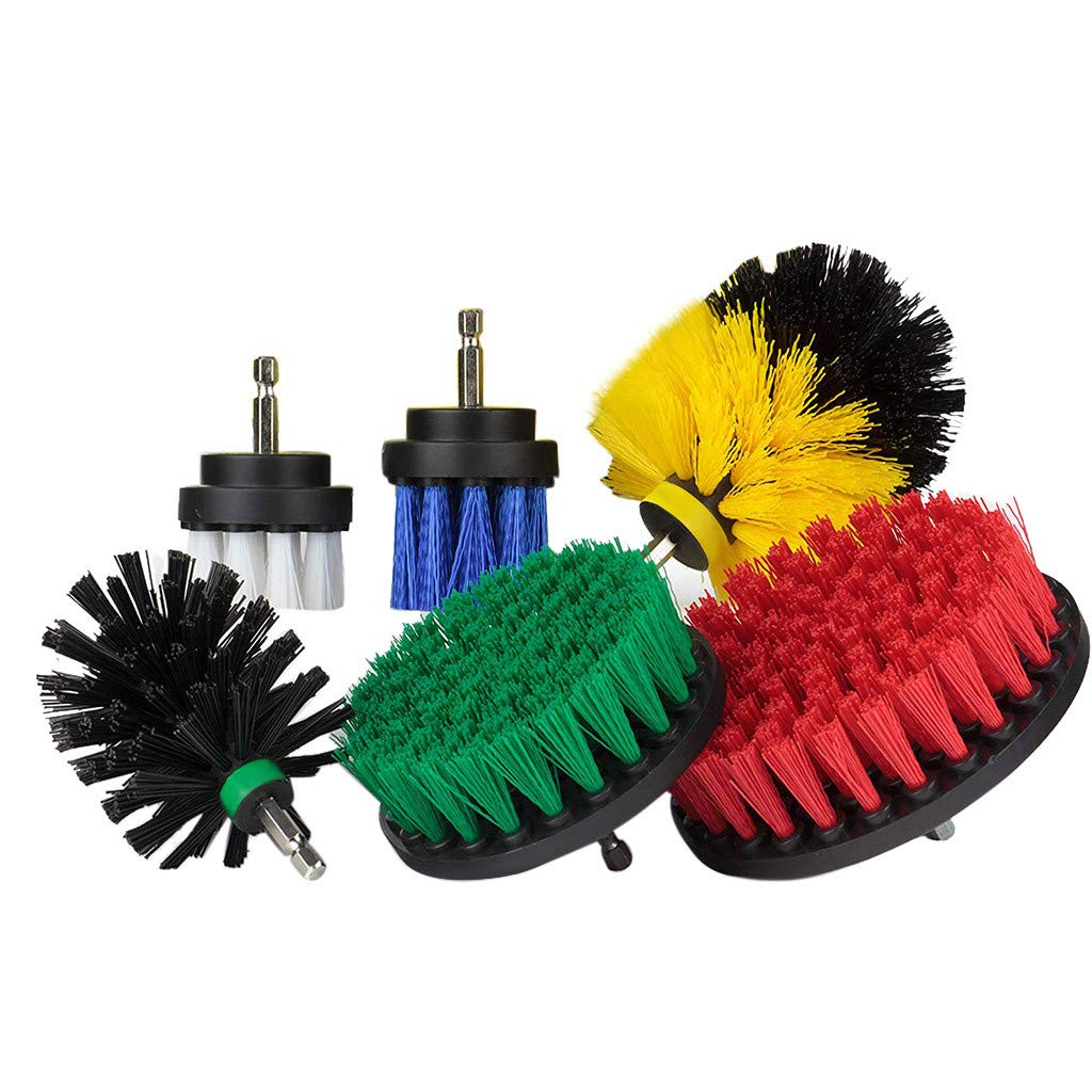 6Pcs Multicolor Grout Power Scrubber Cleaning Brush Tub Cleaner Combo Tool Kit (Multicolor)