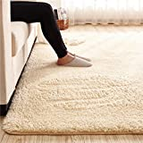 Cheap MAXYOYO Ultra Soft 3.5cm Thicken Sherpa Soft Shag Area Rug Fluffy Living Room Carpet Bedroom Rug 75 by 75 inch Solid Shaggy Area Rug Dining Room Home Bedroom Carpet Floor Mat