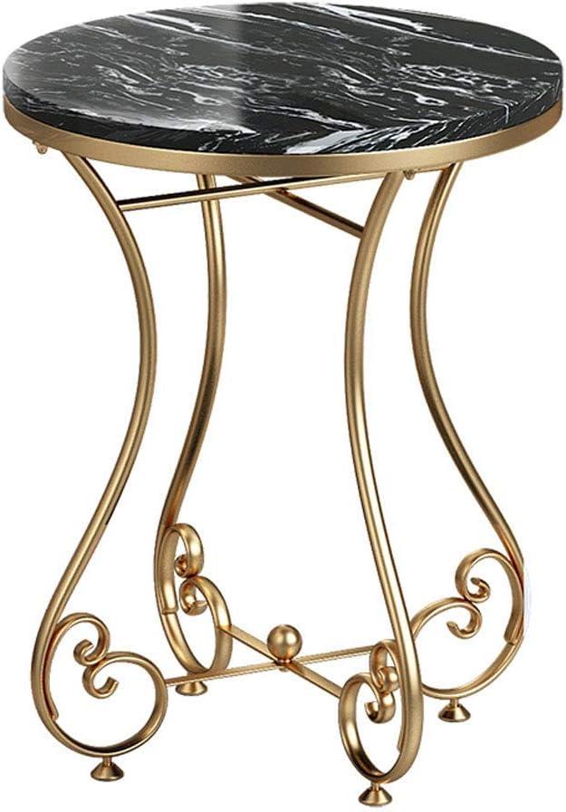Kortingen WYJW salontafel rond eenvoudig luxueuze woonkamertafel met balkon hoektafel van marmorimitatiehout 19,9 inch #2 oD7SVZj