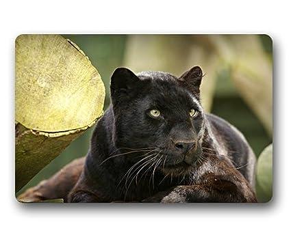 Attrayant Black Panther Resting Custom Outdoor Indoor Doormat Design Machine Washable  Rubber Doormat Home