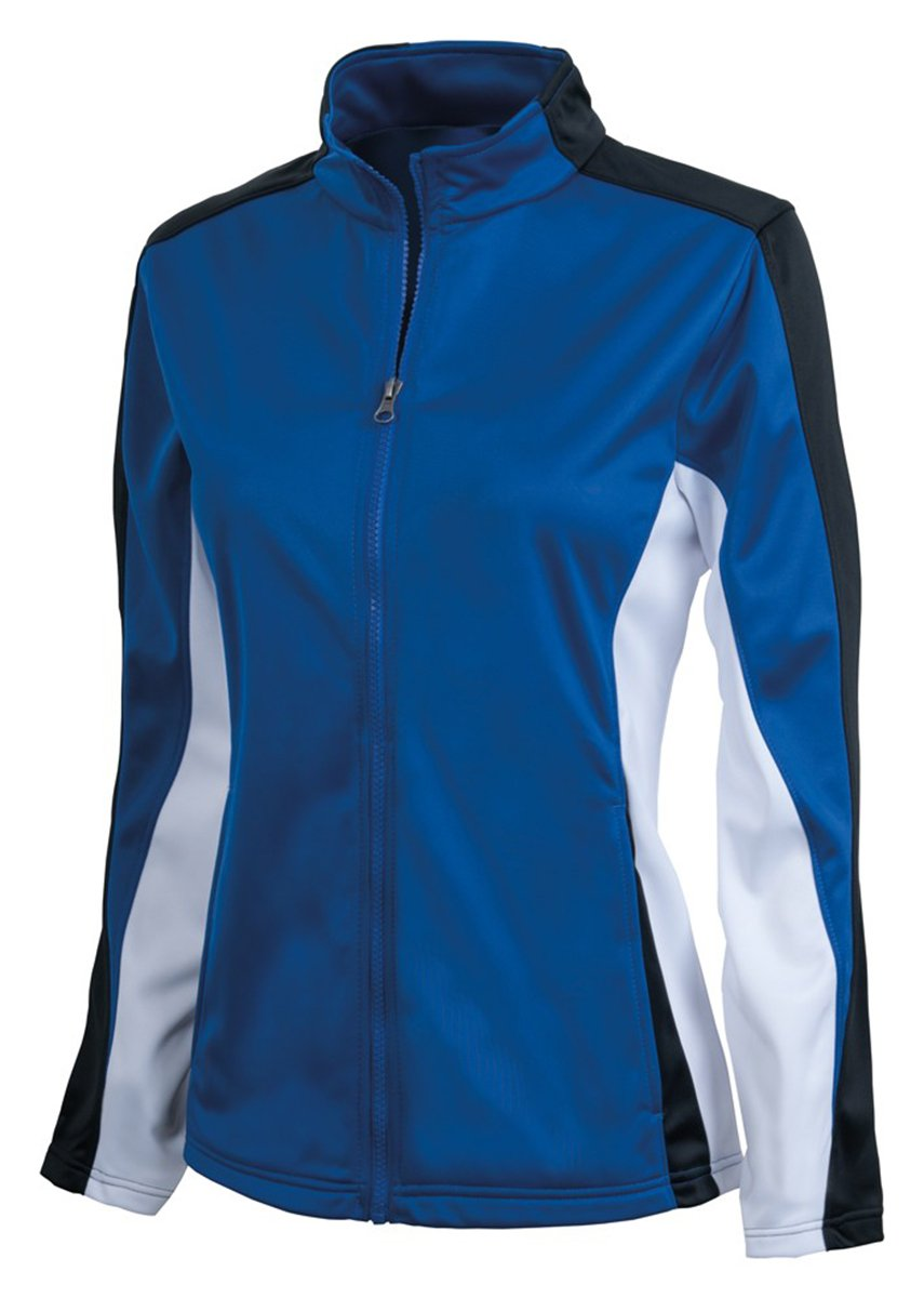 Charles River Apparel Women's Brushed Sports Jacket, Royal/Black/White, X-Large