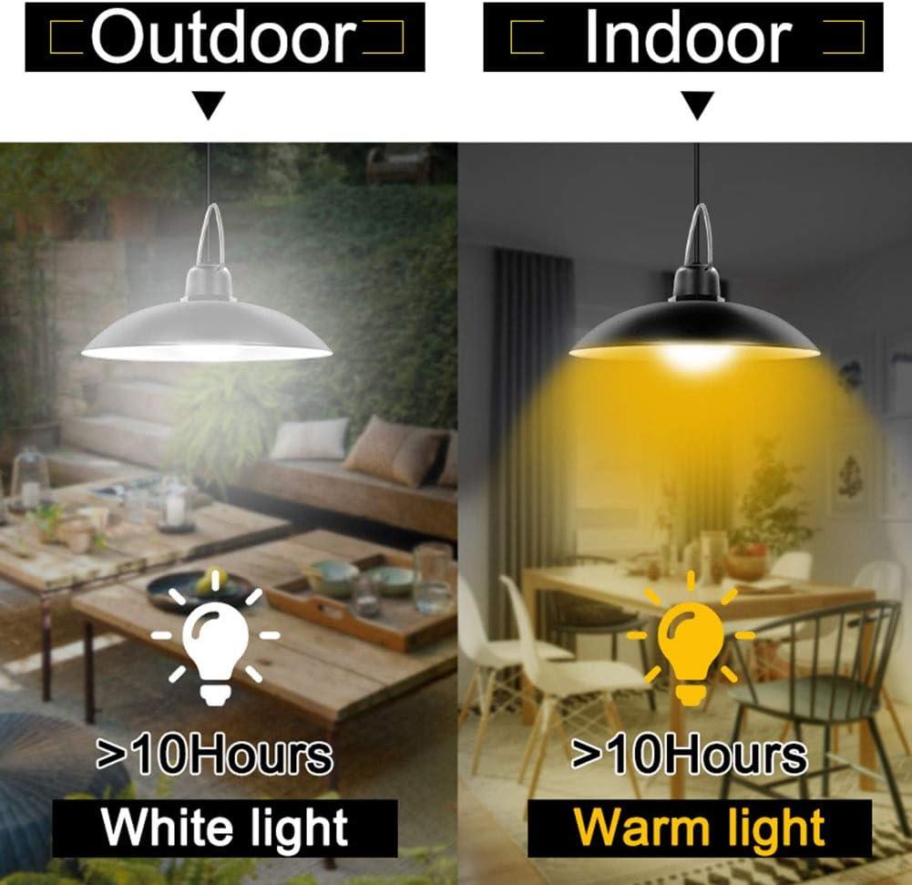 MZSG Solarpendelleuchte, Outdoor Und Indoor-Dekoration-Lampe, Für Barn Farm Garten Garten Terrasse wasserdichte Shed Lichter White