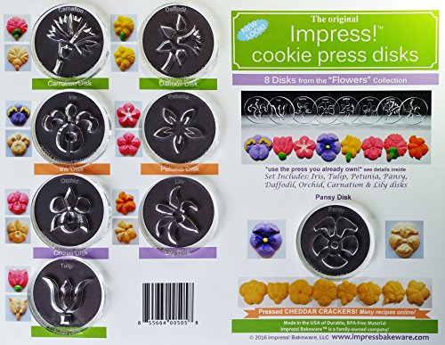 Flowers 8 Disk Set for Cookie Presses (Size M)