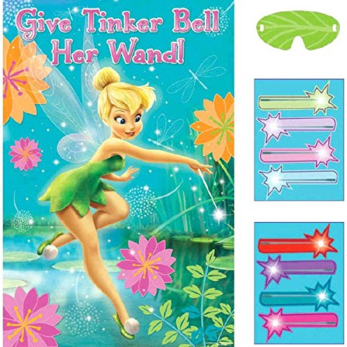 Tinker Bell Wand (Disney Tinkerbell Fun Fairy Wand Birthday Party Game (4 Pack), Blue, 37 1/2