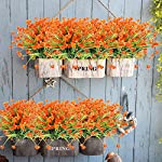 TEMCHY-Artificial-Daffodils-Fake-Flowers-4-Bundles-Orange-UV-Resistant-Faux-Greenery-Foliage-Plants-Shrubs-for-Garden-Wedding-Outside-Hanging-Planter-Farmhouse-Indoor-Outdoor-Decor