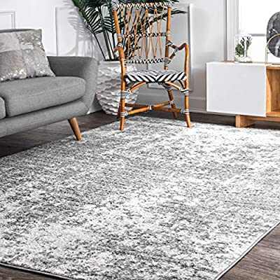 """nuLOOM Transitional Mist Misty Shades Deedra Area Rug, 7' 6"""" x 9' 6"""", Grey, 6"""" 6"""" - Made in Turkey PREMIUM MATERIAL: Crafted of durable synthetic fibers, it has soft texture and is easy to clean SLEEK LOOK: Doesn't obstruct doorways and brings elegance to any space - living-room-soft-furnishings, living-room, area-rugs - 61d%2BgXesm4L. SS400  -"""
