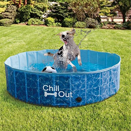 ALL FOR PAWS Outdoor Bathing Dog Pool Portable Pet Bath Tub Blue by ALL FOR PAWS (Image #7)