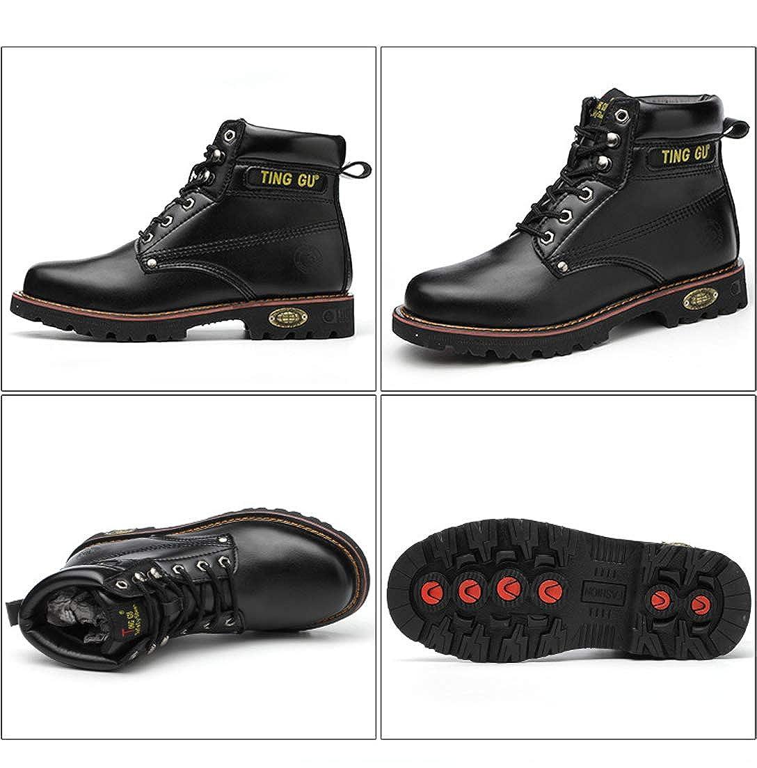 Botas Hombre Botines Zapatos Calzado de Seguridad Invierno Botas ...
