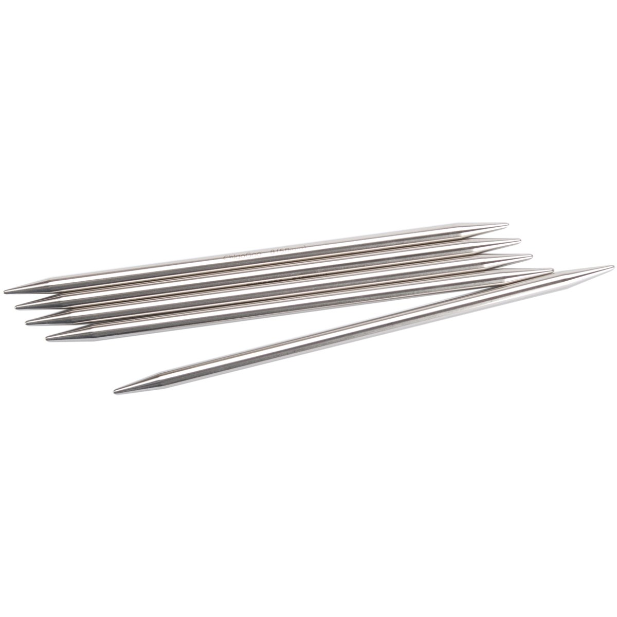 ChiaoGoo 6-Inch Double Point Stainless Steel Knitting Needles, 2.5/3mm 6006-2.5