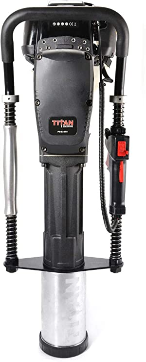 Titan Post Drivers PGD3875 4 Inch Barrel 1.3 Horsepower 4 Stroke Gas Powered Fence Post Hole Digger Post Driver Pole Pounder