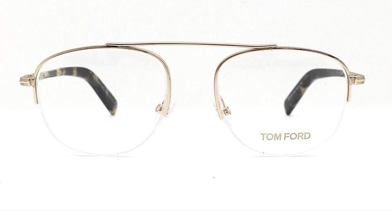 4282dafc575 Amazon.com  TOM FORD FT5450-28B Metal Eyeglass Frames Gold Tortoise 49MM   Health   Personal Care
