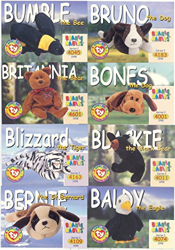 (BEANIE BABIES SERIES 1 1998 OFFICIAL TY COMPLETE BASE CARD SET OF 100 )