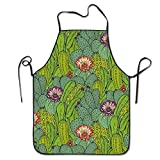 Cactus Mammillaria Peyote Opuntia Cooking Aprons Chef Apron For Women Men Girl Kids Gifts Kitchen Decorations