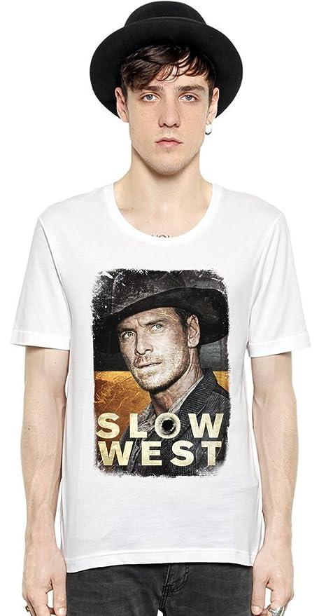 238d5872f Slick Stuff Slow West Silas Selleck Men Short Sleeve T-Shirt Tee Shirt  Stylish Fashion Fit Custom Apparel by: Amazon.co.uk: Clothing