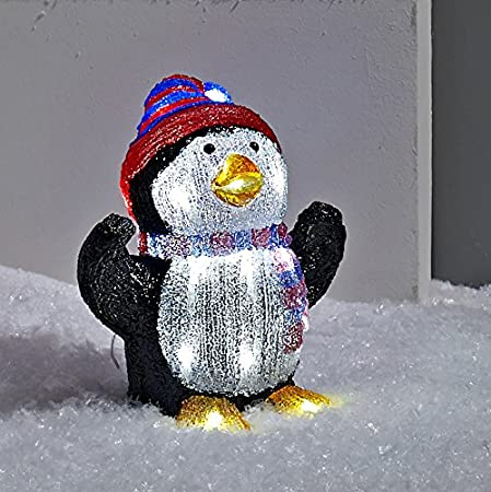 Lights4fun Light Up Penguin LED Christmas Figure for Indoor Outdoor ...