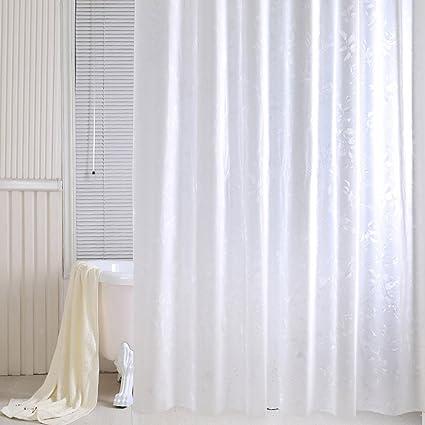 Amazon TIANTA Shower Curtains Translucent PVC Waterproof Mildew