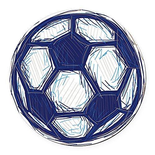 CafePress - Island Life Soccer Ball Round Car Magnet - Round Car Magnet, Magnetic Bumper Sticker ()