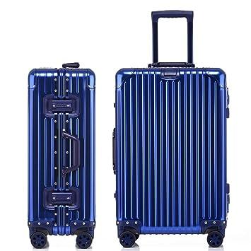 Maleta ligera Maletas con ruedas de aluminio de viaje completo Spinner Equipaje Maletas con cierre TSA